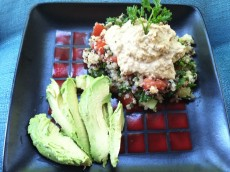 Thumbnail image for Quinoa Tabbouleh Salad with Olive Hummus